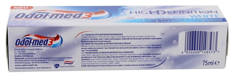 Odol-med 3 High Definition White sanfte Minze