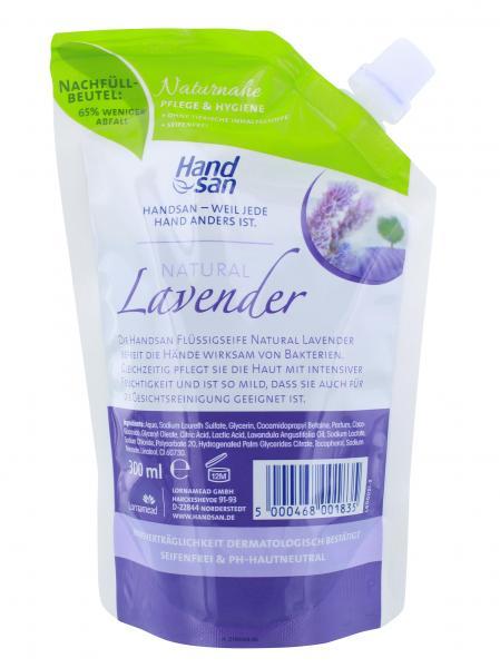 Handsan Flüssigseife Natural Lavender Nachfüllbeutel