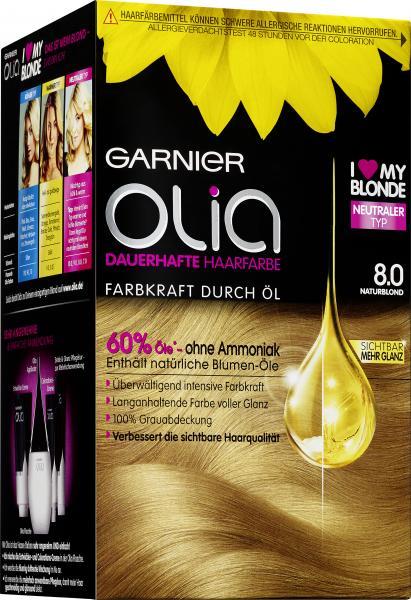 Garnier Olia Dauerhafte Haarfarbe 8.0 Naturblond