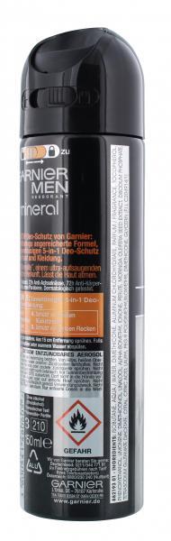 Garnier Men Mineral Protection Deodorant Spray