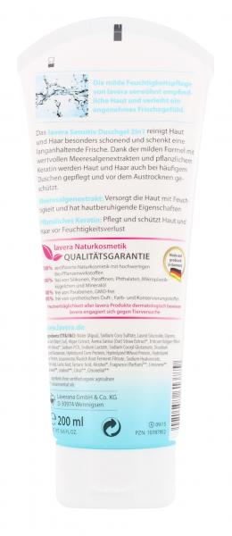 Lavera Basis sensitiv 2in1 Duschgel für Haut & Haar