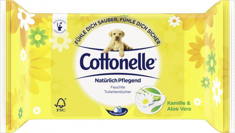 Cottenelle Feuchte Toilettentücher Kamille & Aloe Vera