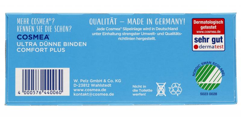 Cosmea Comfort Plus Slipeinlagen normal ohne Duft