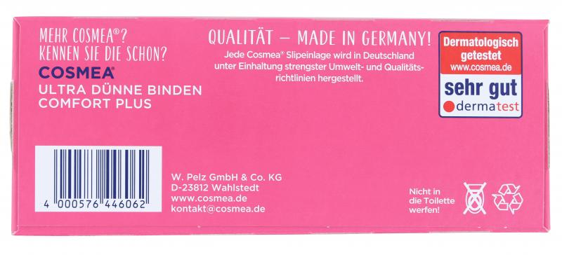 Cosmea Comfort Plus Slipeinlagen normal mit Frischeduft