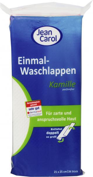 Jean Carol Kamille Einmal-Waschlappen