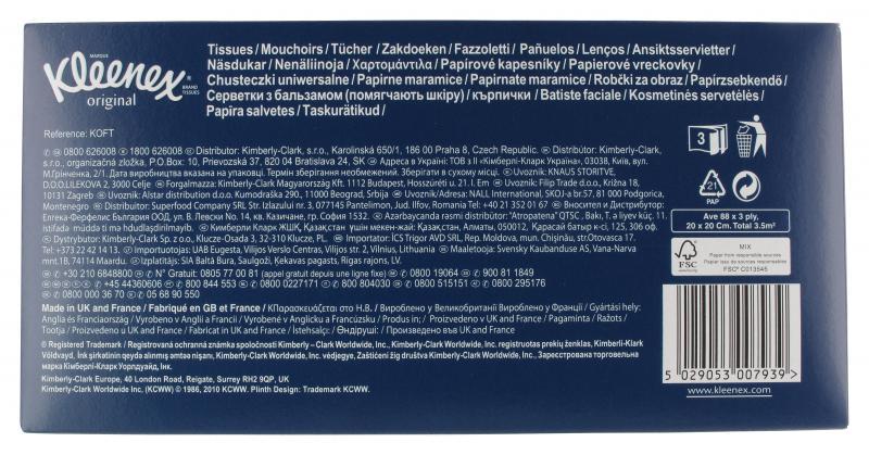Kleenex Kosmetik-Tücher Box
