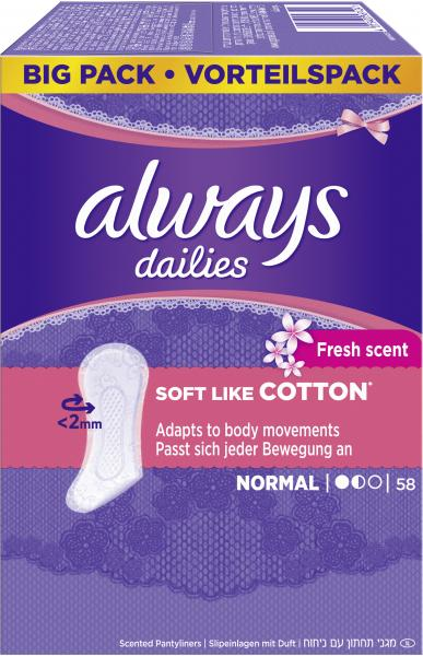Always Soft like Cotton Fresh scent Slipeinlagen normal