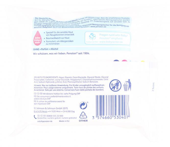 Penaten Baby Ultra Sensitiv Reinigungstücher