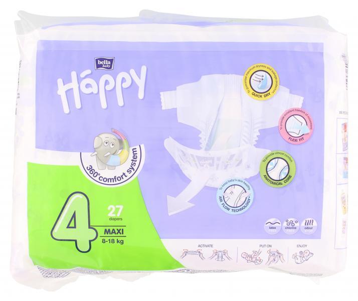 Bella Baby Happy Windeln Gr. 4 Maxi 8-18kg