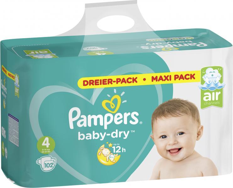 Pampers Baby-Dry Größe 4 Maxi 9-14 kg