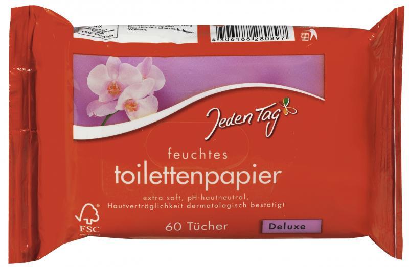 Jeden Tag Feuchtes Toilettenpapier Deluxe Cl