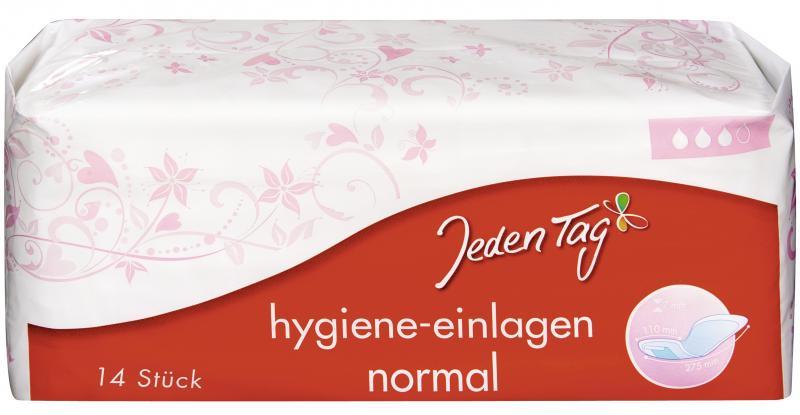 Jeden Tag Hygiene-Einlagen normal