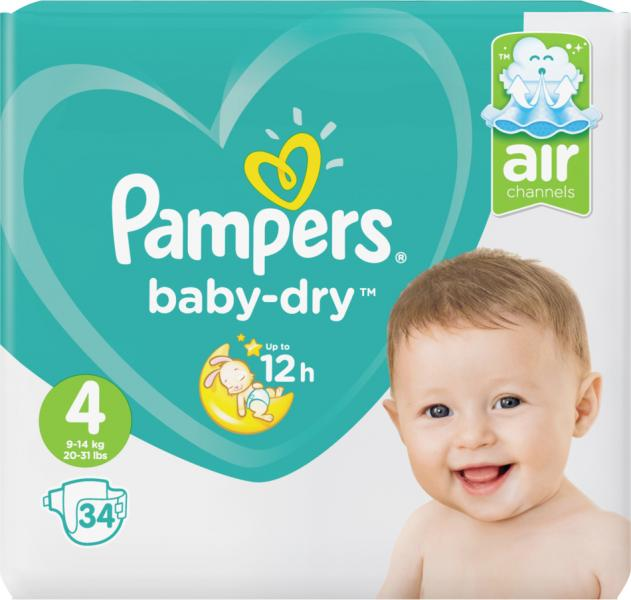 Pampers Baby-Dry Gr. 4 Maxi 9-14 kg