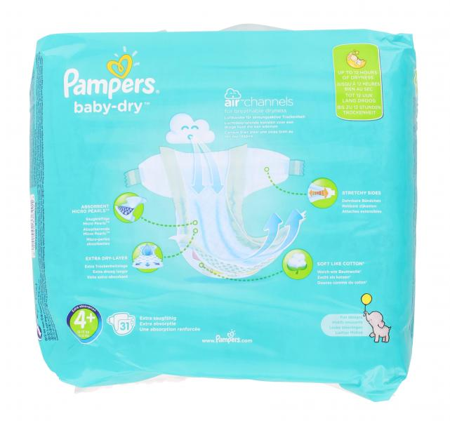 Pampers Baby-Dry Gr. 4+ Maxi 10-15 kg