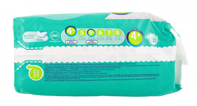 Pampers Baby Dry Gr. 4+ Maxi 10-15 kg