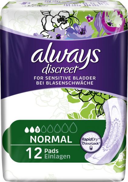 Always Discreet Binden für Blasenschwäche normal