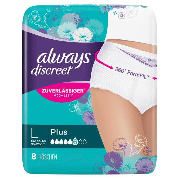 Always Discreet plus Pants Gr. L