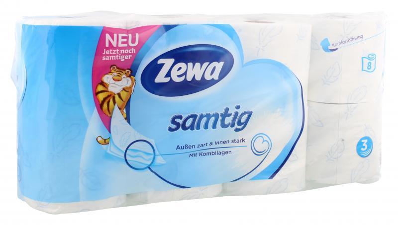 Zewa Samtig Toilettenpapier 3-lagig