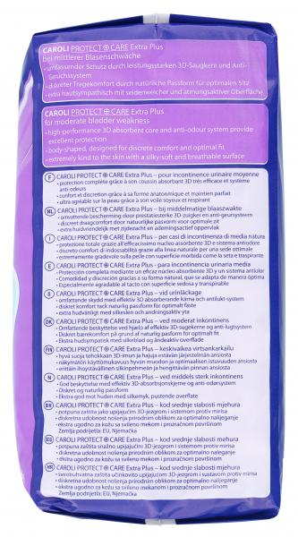 Caroli Protect + Care Hygieneeinlagen extra plus