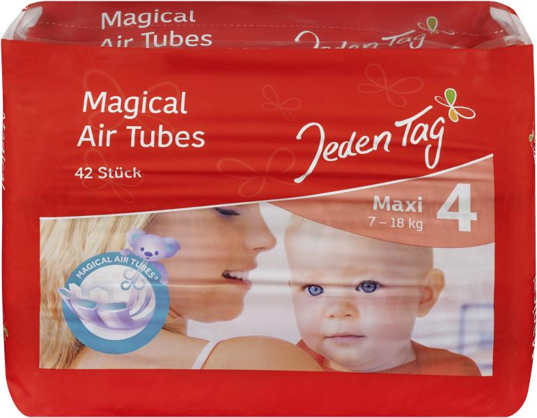 Jeden Tag Air dry Windeln Gr. 4 Maxi 7-18kg
