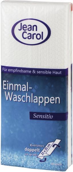 Jean Carol Einmal-Waschlappen sensitiv