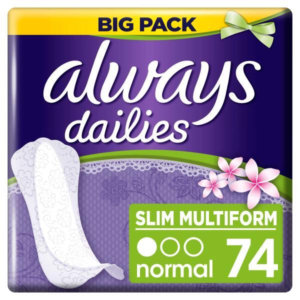 Always Dailies Slipeinlagen Slim Multiform normal fresh sent