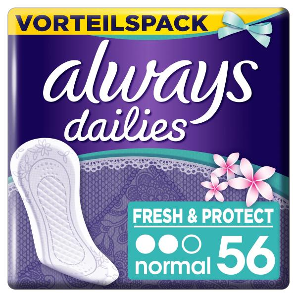 Always Dailies Fresh & Protect normal fresh scent