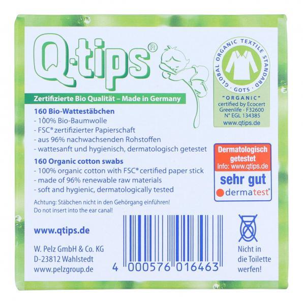 Pelz Q-Tips Bio-Pflegestäbchen