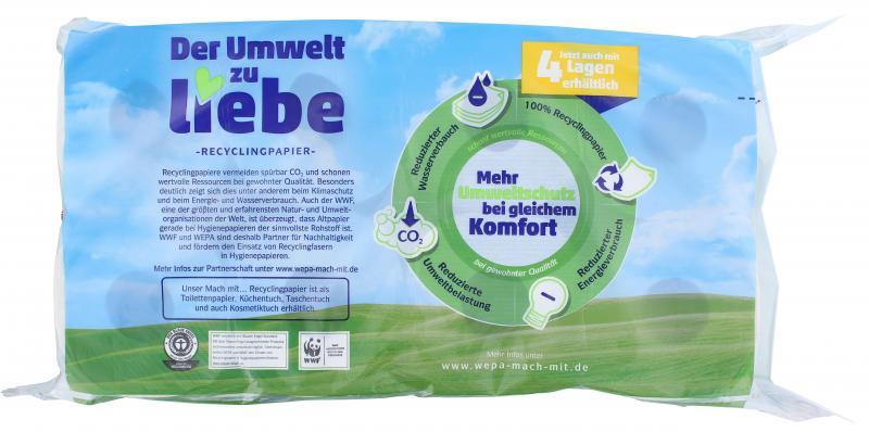 Mach mit Toilettenpapier