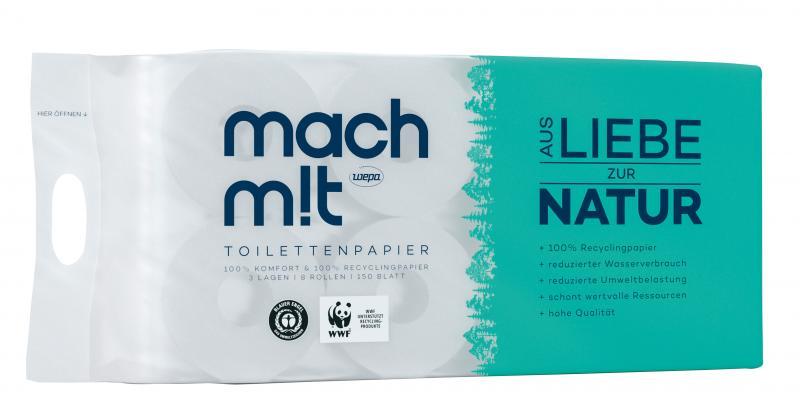 Mach mit Toilettenpapier 3lagig