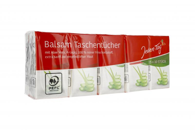 Jeden Tag Taschentücher Balsam 4-lagig