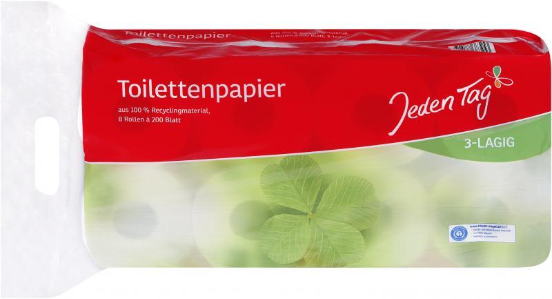 Jeden Tag Toilettenpapier Recycling 3 Lagig Online Kaufen Bei Combi De