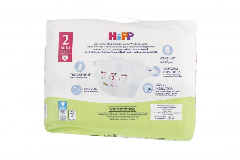 Hipp Babysanft Windeln Gr. 2 Mini 3-6kg