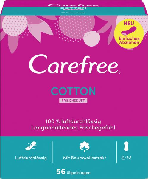 Carefree Slipeinlagen Cotton Frischeduft Gr. S/M