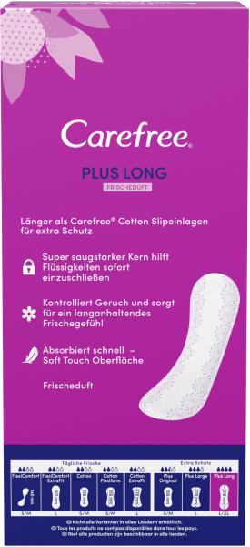 Carefree Slipeinlagen Plus Long Frischeduft Gr. L/XL