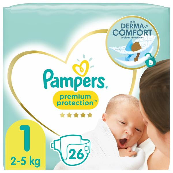 Pampers Premium Protection New Baby Gr.1 Newborn 2-5 kg Tragepack