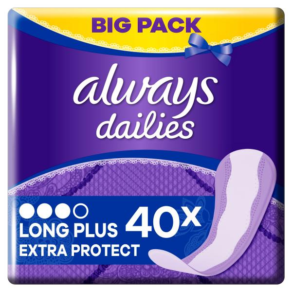 Always Dailies Slipeinlagen Long Plus Extra Protect