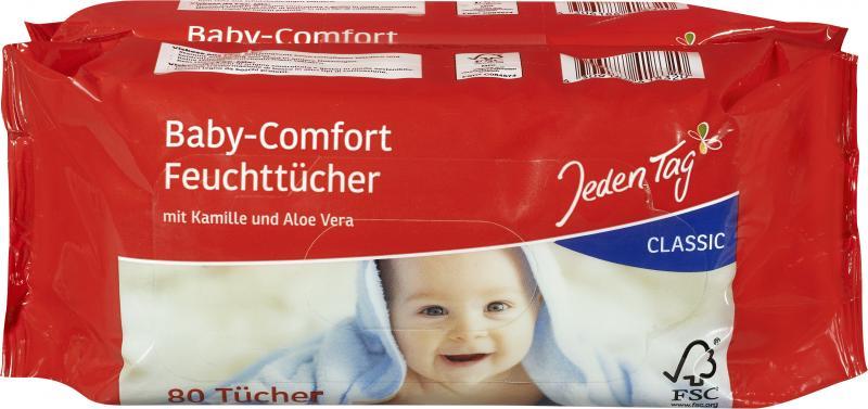 Jeden Tag Baby-Comfort Feuchttücher classic