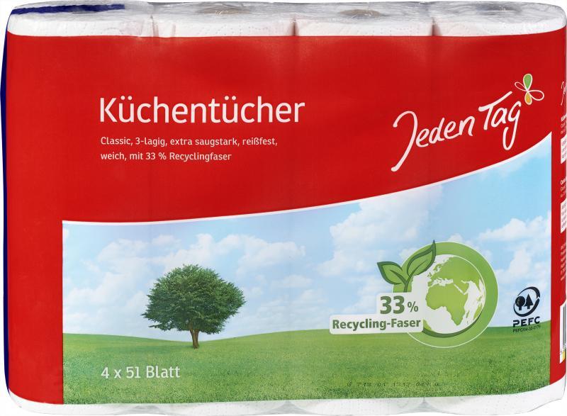 Jeden Tag Hybrid Küchentücher 3-lagig Classic
