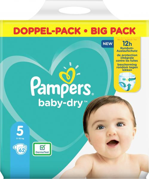 Pampers Baby Dry Windeln Gr.5 11-16 kg