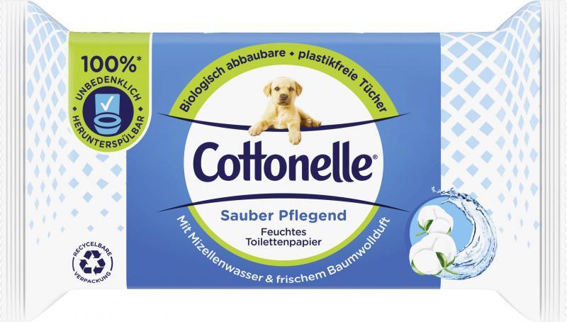 Cottonelle Feuchtes Toilettenpapier Sauber pflegend Mizellenwasser & frischer Baumwollduft