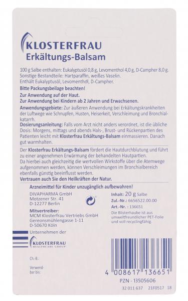 Klosterfrau Erkältungs-Balsam