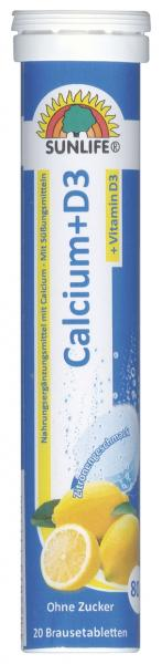 Sunlife Calcium + D3 Brausetabletten