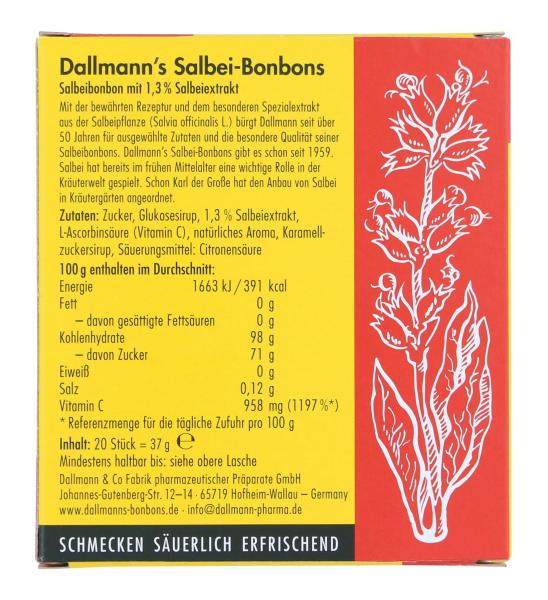 Dallmann's Salbei Bonbons mit Vitamin C