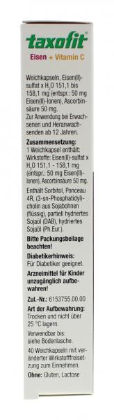 Taxofit Eisen + Vitamin C Kapseln