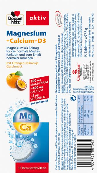 Doppelherz aktiv Magnesium + Calcium Brausetabletten
