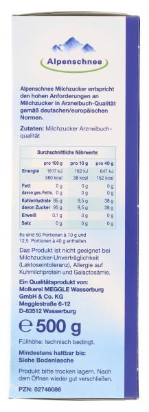 Alpenschnee Milchzucker