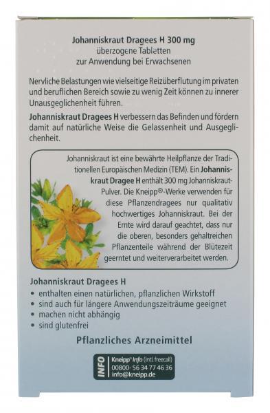 Kneipp Johanniskraut Dragees