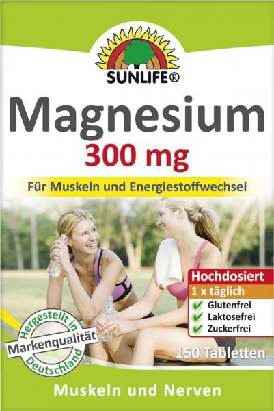 Sunlife Magnesium 300mg Tabletten