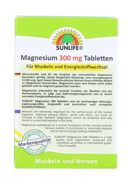 Sunlife Magnesium 300mg Tabletten